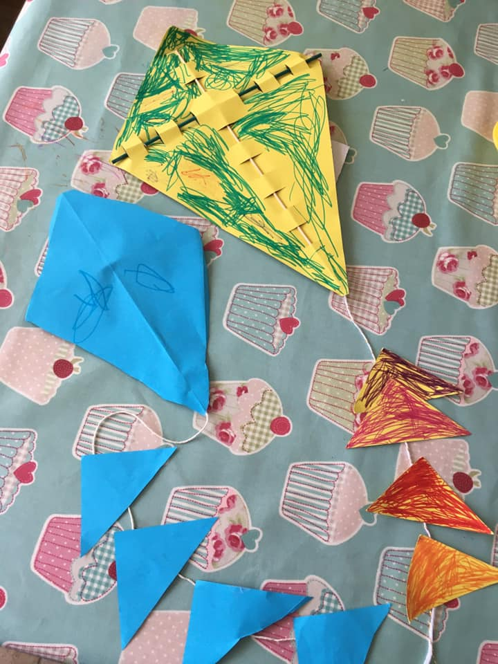 Phoebe and Harry's kites!