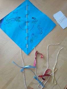 Lily's kite complete with ribbons!