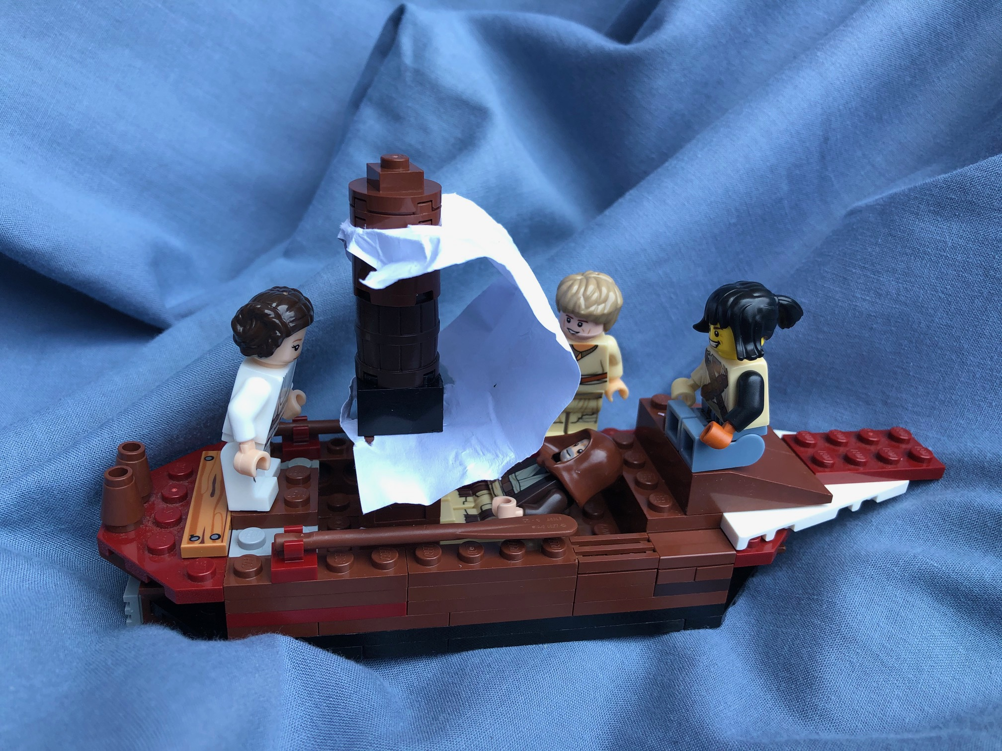 Jesus asleep in a lego boat before the storm
