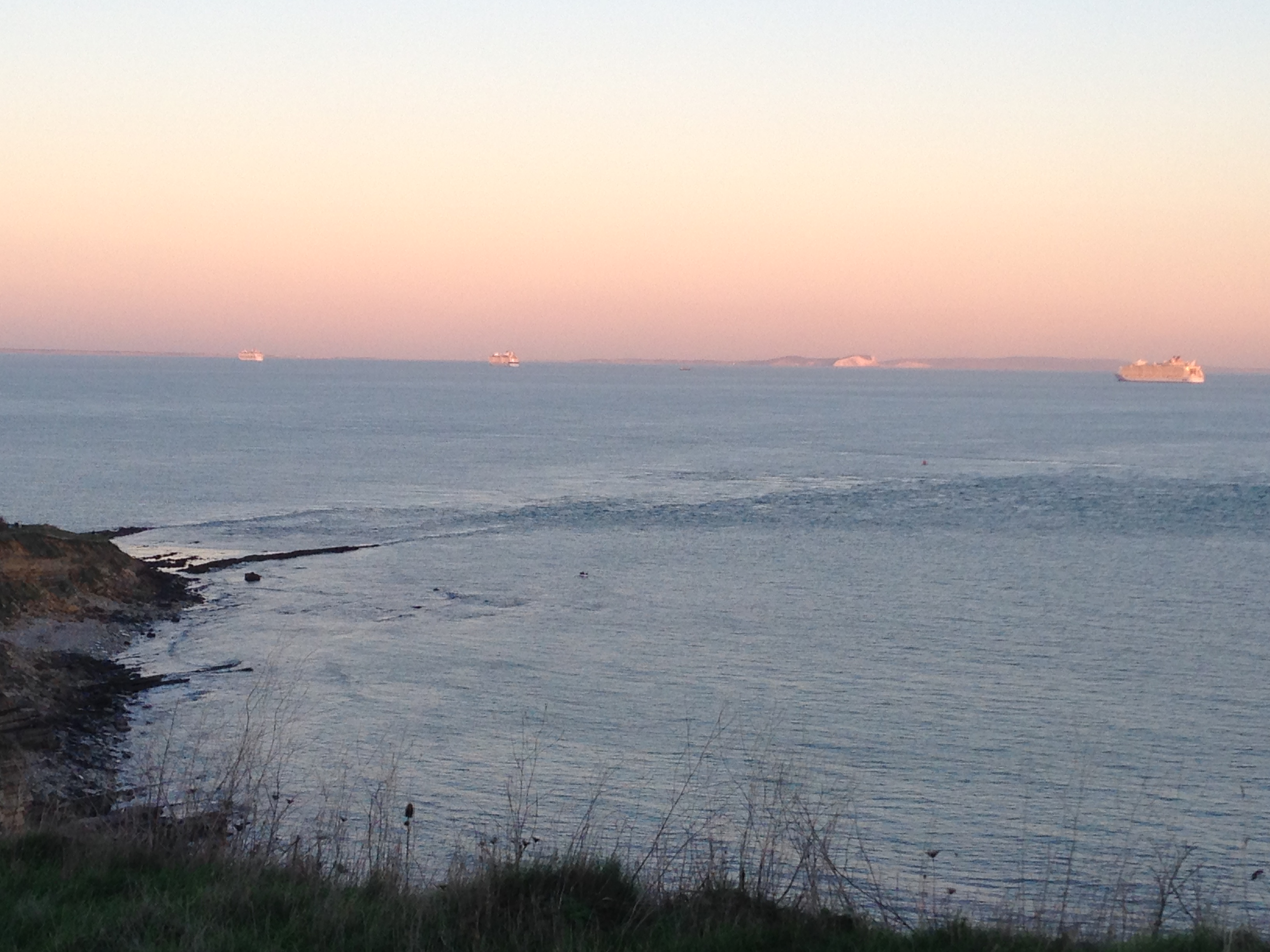 Last night from Peveril Point