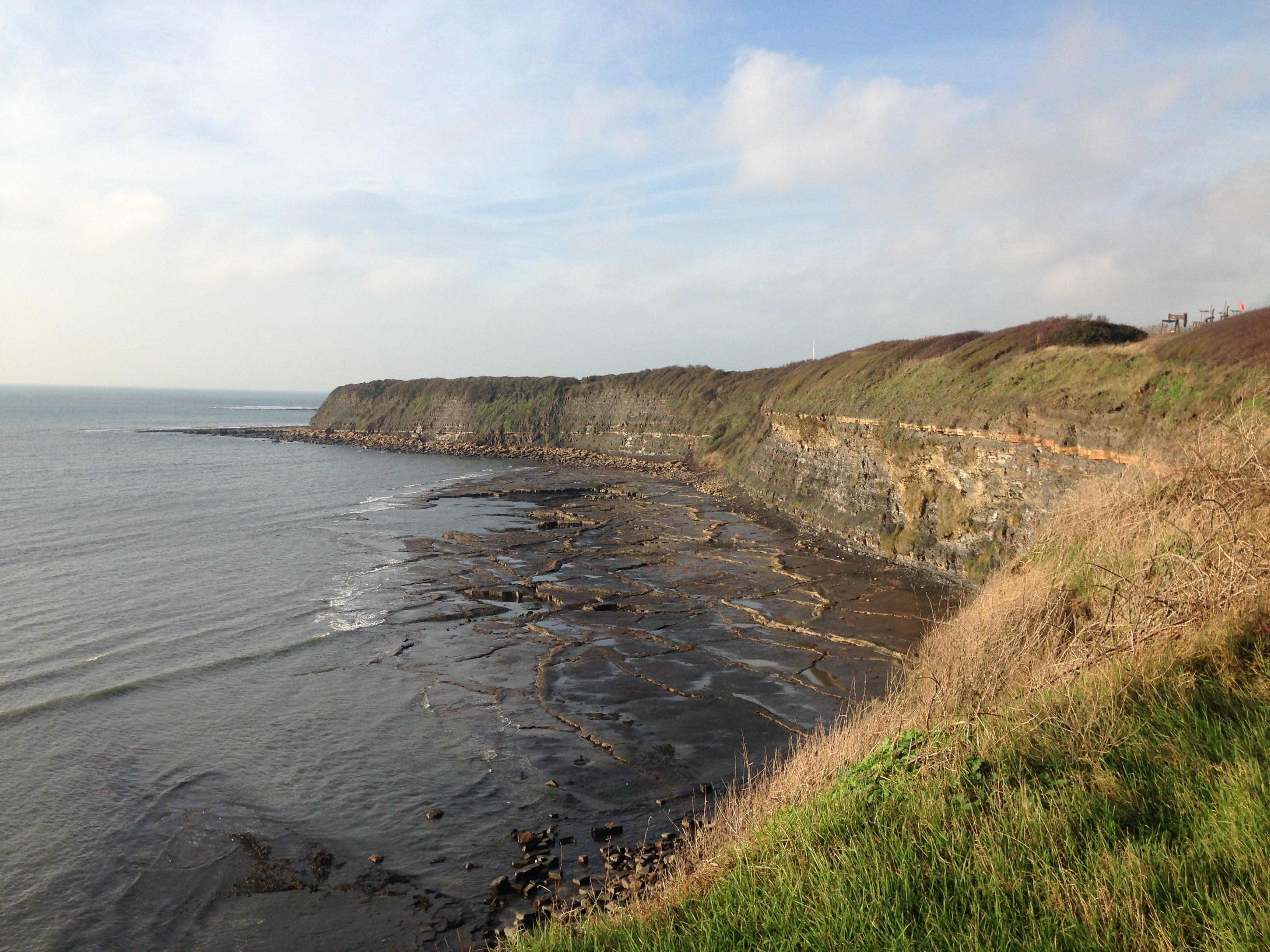 The westward side of Kimmeridge Bay